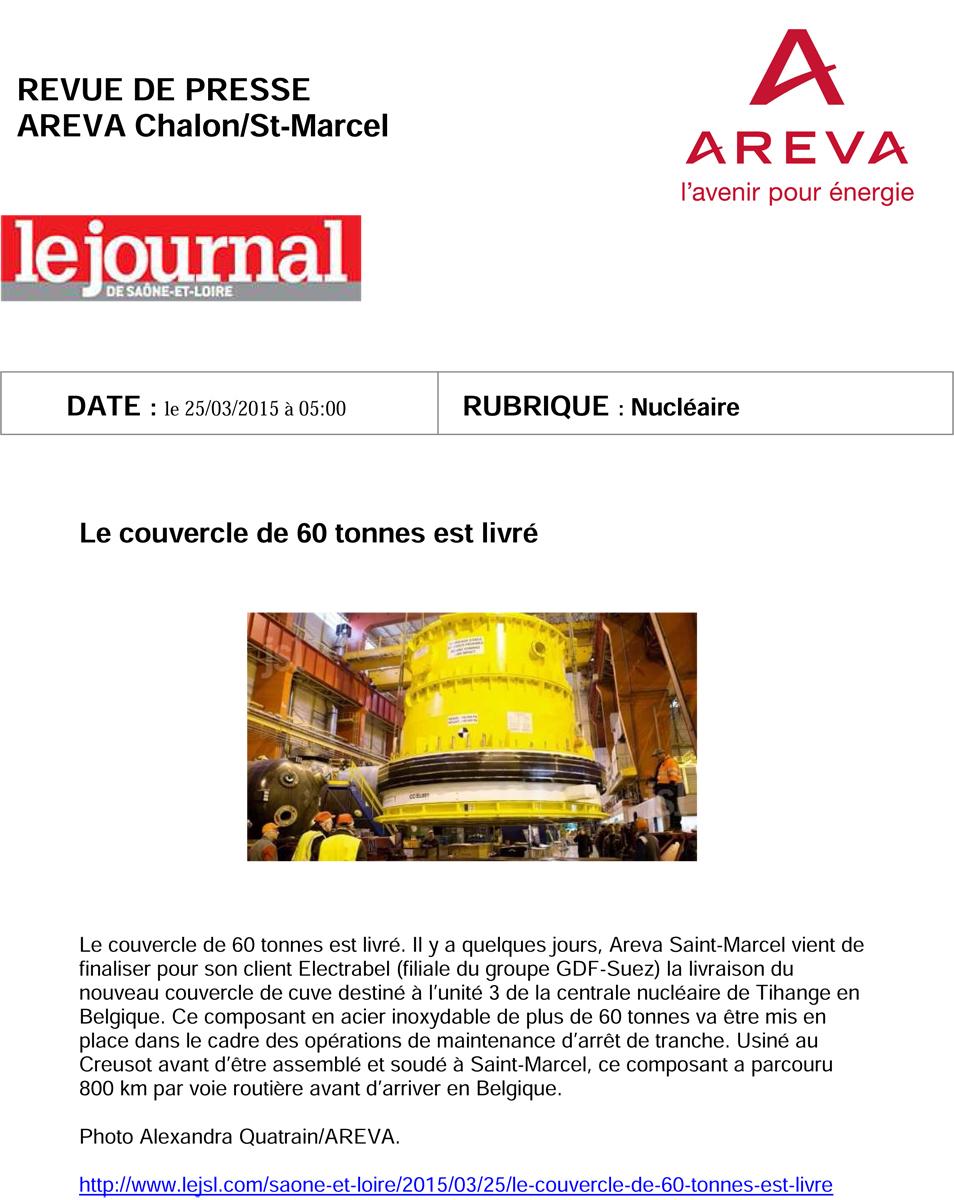 Revue de presse Journal de Saône et Loire 25 Mars